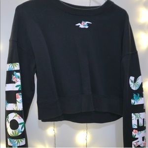 Hollister hoodie with tropical print